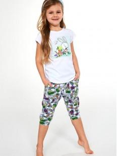 Детская пижама с кроликом для девочек: футболка и брюки капри