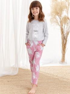 Детская брючная пижама для девочек с рисунком в виде мишек