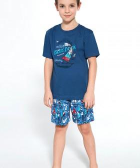 Хлопковая детская пижама с яхтами для мальчиков