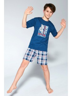 Детская пижама с шортами для мальчиков: принт тигра