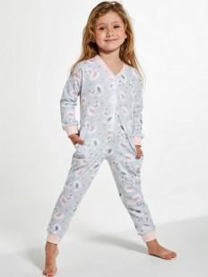Цветной пижамный комбинезон на молнии для девочек