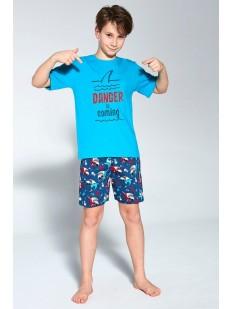 Детский пижамный комплект для мальчиков с акулами