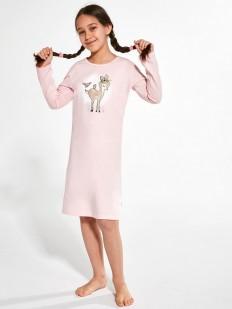 Ночная сорочка для девочек длинным рукавом и рисунком бэмби