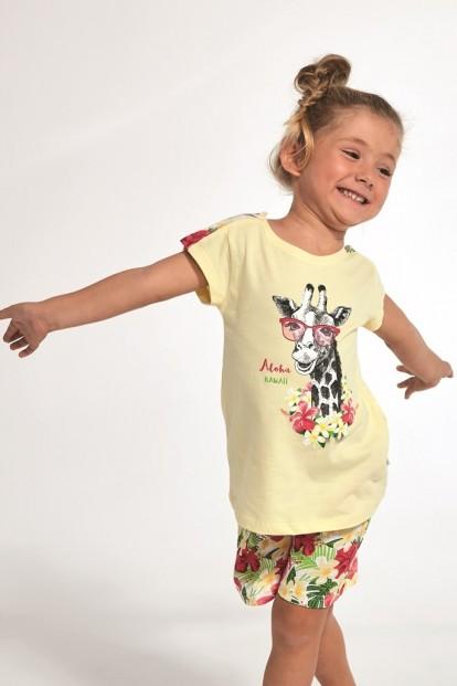 Детская пижама для девочек с жирафом Cornette 245/246