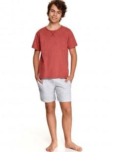 Подростковая пижама для мальчиков с шортами и футболкой