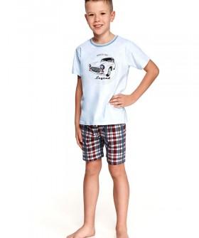 Детская пижама для мальчиков с шортами в клетку