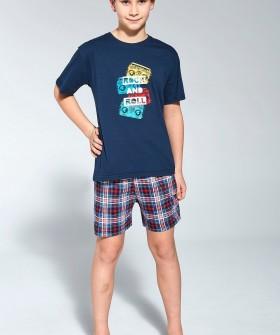 Хлопковая пижама для мальчиков в стиле ROCK N ROLL
