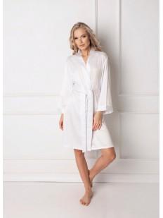 Атласный халат ARUELLE Classy white