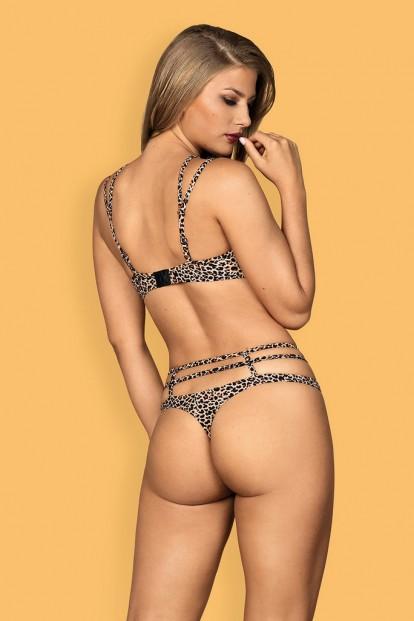Женские леопардовые стринги Obsessive Selvy