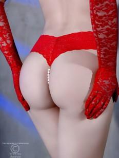 Сексуальные кружевные стринги с жемчугом и сюрпризом