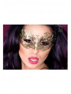Золотая маска с атласными лентами