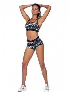 Спортивные короткие женские шорты с мрамормным принтом