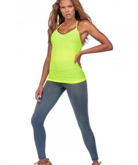 Спортивные женские леггинсы для фитнеса черного цвета