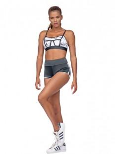 Спортивные черные женские шорты для фитнеса