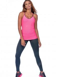 Розовая спортивная женская майка для фитнеса