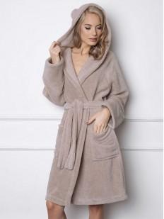 Теплый женский пушистый халат с ушками ARUELLE Beary