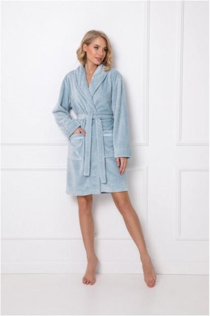 Уютный женский халат с объемным узором Aruelle EMILY - фото 1