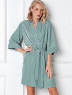 Женский летний халат кимоно в мятном оттенке
