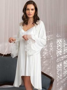 Домашний женский атласный халат кимоно из вискозы