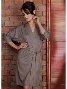 Женский домашний трикотажный халат из вискозы