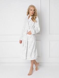 Длинный теплый махровый халат с карманами
