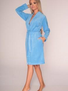 Хлопковый женский теплый халат из велюра