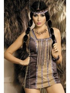 Эротический костюм индианки Покахонтас из платья и аксессуаров