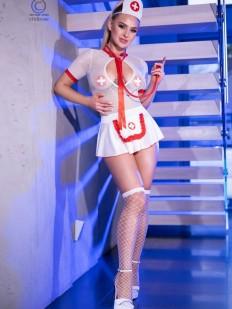 Эротический ролевой костюм медсестры со стетоскопом