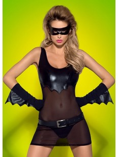 Женский эротический костюм бэтмен с латексными элементамии для ролевых игр