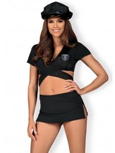 Женский ролевой костюм полицейской с фуражкой