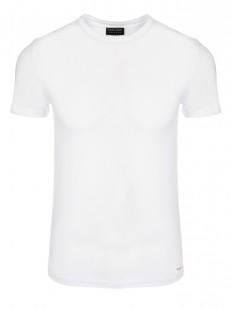 Классическая мужская футболка из хлопка с круглым вырезом