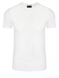 Классическая трикотажная мужская футболка с круглым вырезом