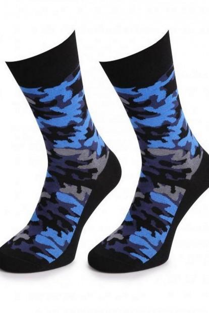 Хлопковые мужские носки с принтом камуфляж Marilyn Men MORO 2 - фото 1