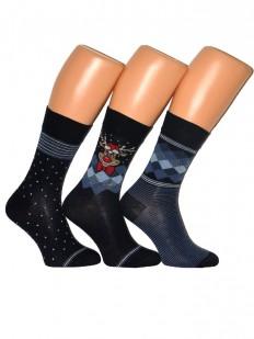 Хлопковые мужские носки (3 шт.) Cornette PREMIUM