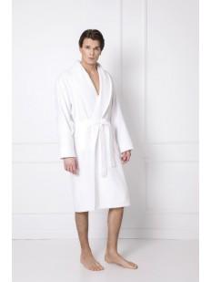 Белый мужской халат из мягкого трикотажа