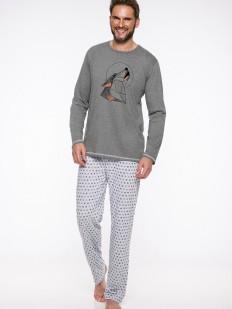 Хлопковая домашняя мужская пижама с брюками