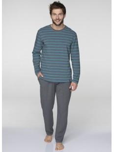 Домашняя мужская пижама из 100% хлопка