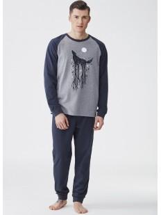 Хлопковый мужской пижамный комплект