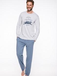 Хлопковый мужской пижамный комплект со штанами