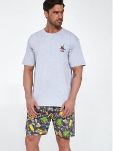 Летняя мужская пижама из хлопка с мексиканским принтом на шортах