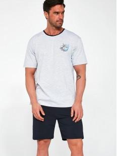 Хлопковая мужская пижама с шортами и футболкой на лето