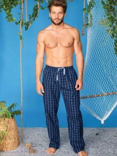 Домашние хлопковые мужские брюки