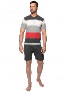 Летняя мужская трикотажная пижама с шортами