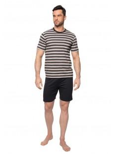 Летняя мужская хлопковая пижама с шортами