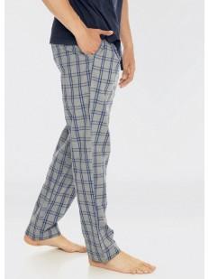 Домашние хлопковые мужские штаны в клетку