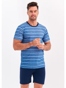 Хлопковая летняя мужская пижама с шортами