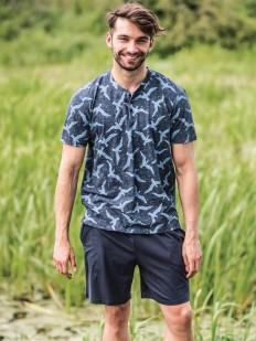 Трикотажная мужская пижама с шортами