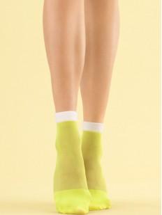 Яркие лимонные капроновые женские носки 8 den
