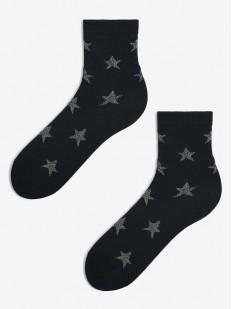 Женские носки с серебристыми звездами