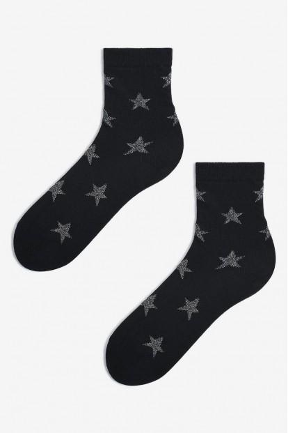 Женские носки с серебристыми звездами Marilyn SL STARMAGEDON - фото 1